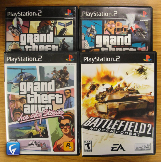 PS2 Grand Theft Auto Vice City Vice City Stories San Andreas