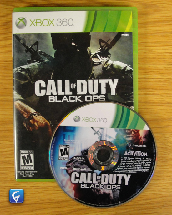 call of duty black ops xbox 360 manual case amp game